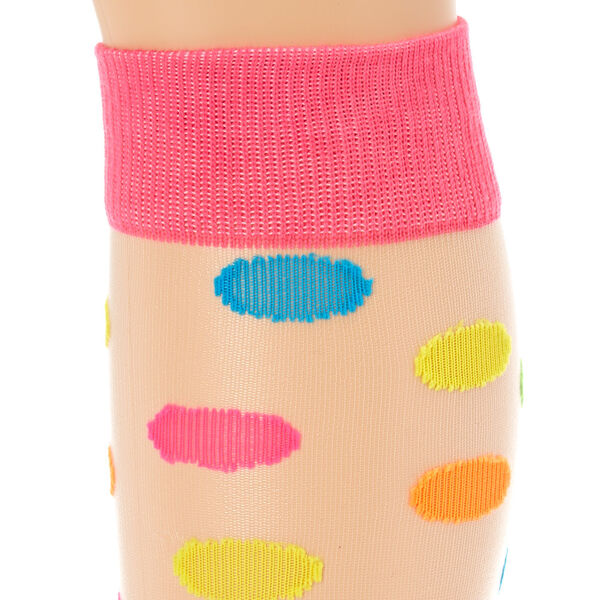 Claire's - neon polka dot sheer knee high socks - 2