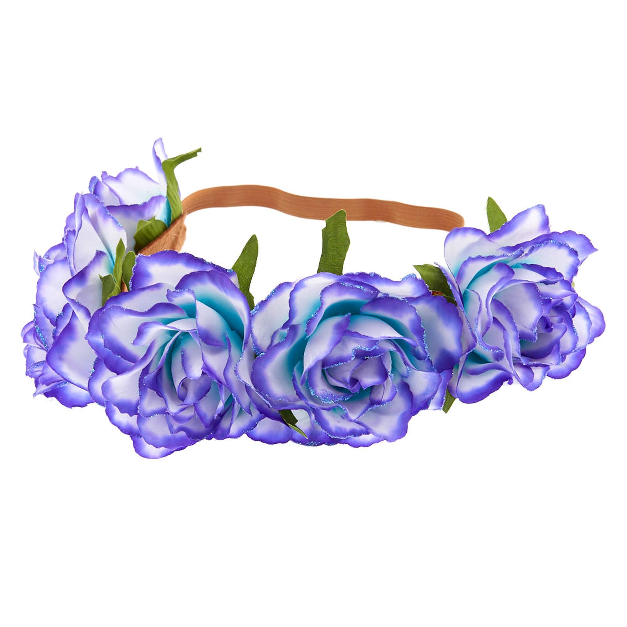 Ombre flower crown headwrap purple to mint claires us ombre flower crown headwrap purple to mint izmirmasajfo