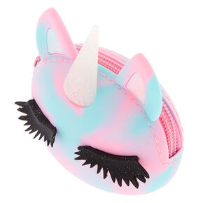 Rainbow Caticorn Jelly Coin Purse - Pink,