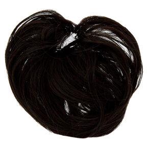 Faux Hair Bun Extension - Black,