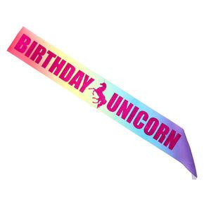 5f4a1c0c5361 Pink Glitter Birthday Unicorn Sash - Rainbow