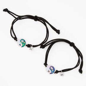 Best Friends Yin Yang Butterfly Mood Bracelets - 2 Pack,