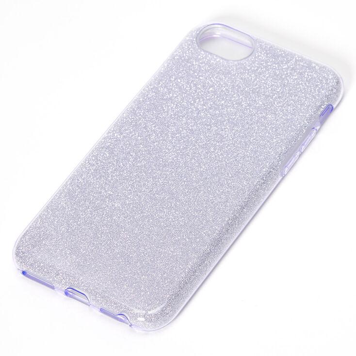 Purple Glitter Protective Phone Case - Fits iPhone 6/7/8/SE,