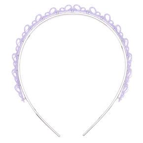 Glitter Butterfly Headband - Lavendar,