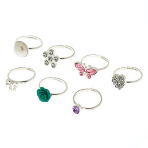 Claire's Club Ring Set - 7 Pack,