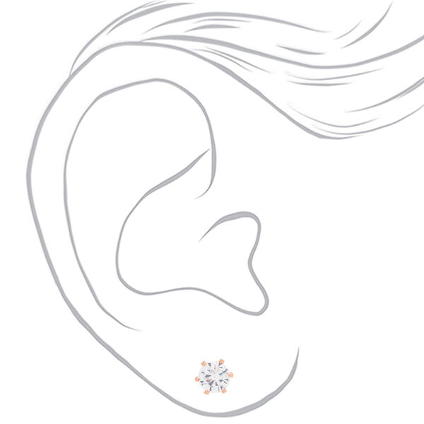 Claire's - 18kt rose plated 6mm cupcake stud earrings - 2