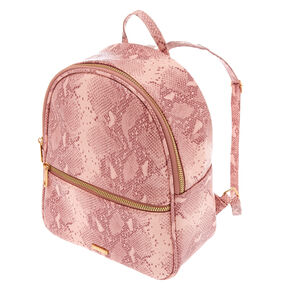 Snake Skin Small Backpack - Pink,