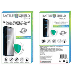 Premium Tempered Glass Screen Protector - Fits iPhone 12/12 Pro,