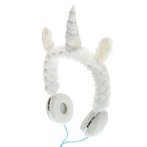 Glitter Unicorn Headphones - White,