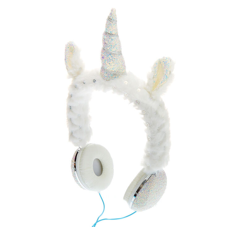 Casque audio licorne pailleté - Blanc,