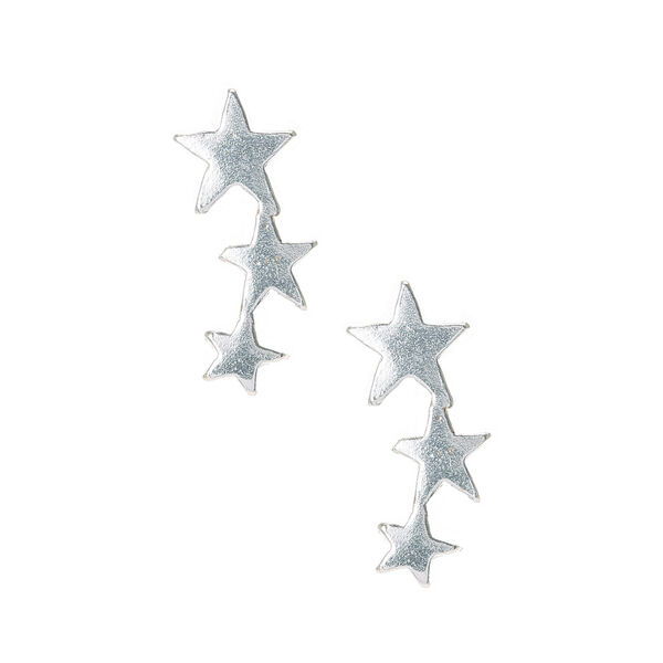 Claire's - sterling graduated star stud earrings - 1