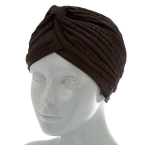Textured Turban Headwrap - Black,