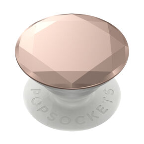 PopSockets Swappable PopGrip - Rose Gold Diamond,