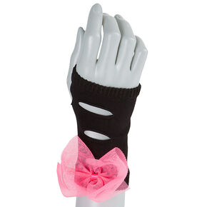 Ripped Arm warmers with Mesh Bows,