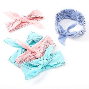 Bandeaux bandana motif cachemire pastel - Lot de 5,
