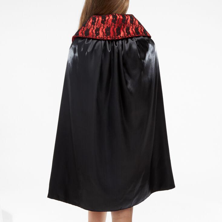 Vampiress Faux Leather & Lace Cape - Black,