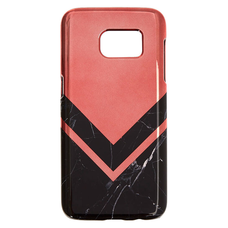 Rose Gold & Marble Print Phone Case - Fits Samsung Galaxy S7,