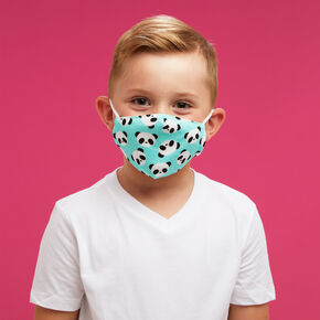 Cotton Mint Panda Face Mask - Child Small,