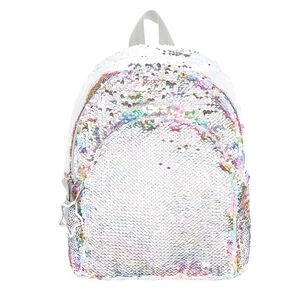 c5183b0295613 Reversible Sequin Rainbow Pastel Midi Backpack