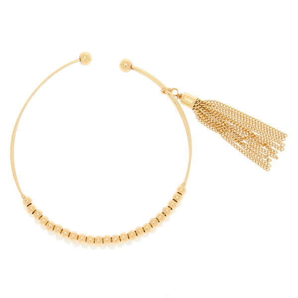 Claire's - gold beaded cuff bracelet - 2