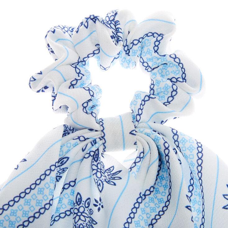 Small Prairie Hair Scrunchie Scarf - White,