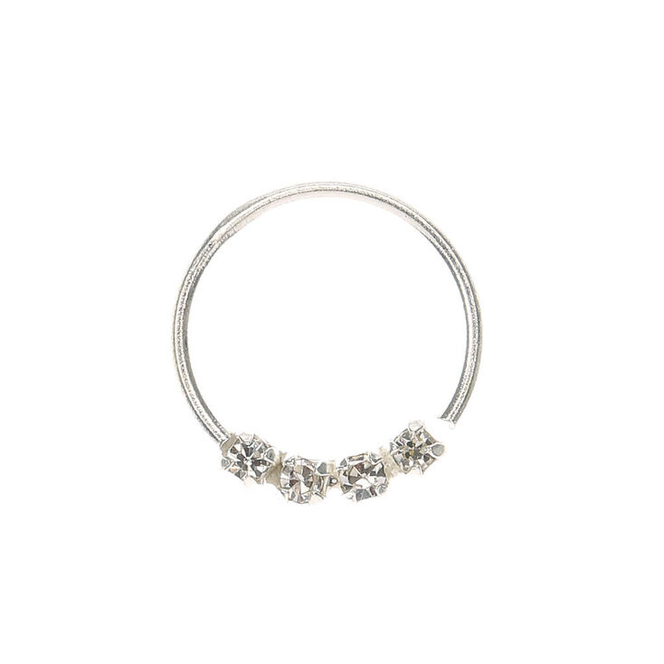 Sterling Silver 21G Fancy Nose Ring,