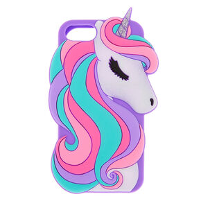 Glitter Unicorn Silicone Phone Case - Fits iPhone 6/7/8/SE,