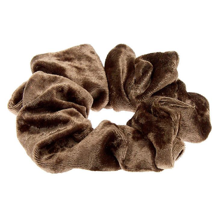 Medium Velvet Hair Scrunchie - Sage,