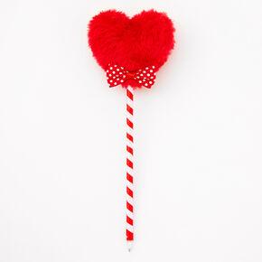 Fuzzy Red Heart Pen,
