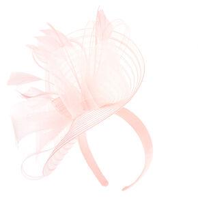 Large Feather Bow Hatinator Headband - Nude,