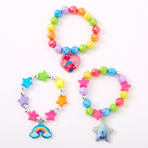 Trolls World Tour Beaded Stretch Bracelets - 3 Pack,