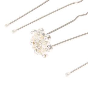 Silver Snowflake Hair Pins,