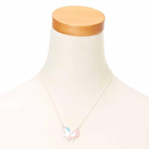 Claire's - pastel glitter unicorn pendant necklace - 2
