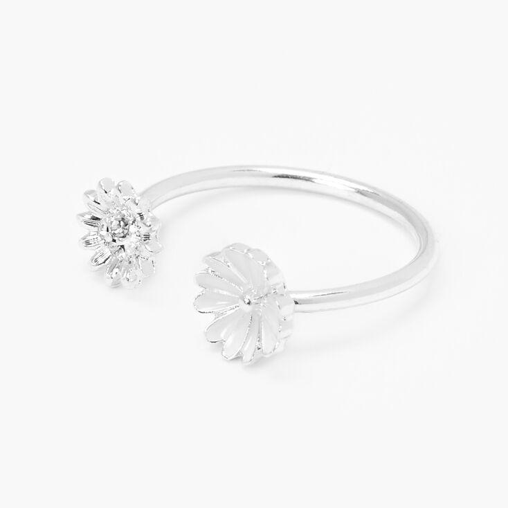 Silver Open Daisy Flower Ring,