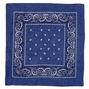 Paisley Bandana Headwrap - Navy Blue,