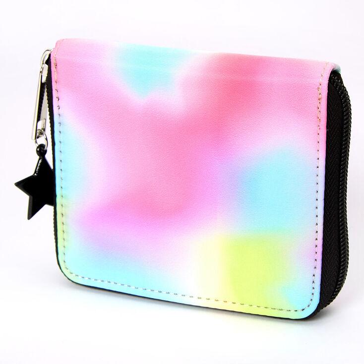Rainbow Tie Dye Mini Zip Wallet,