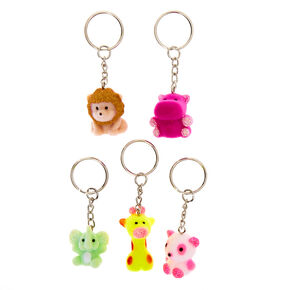 Best Friends Zoo Animals Keychains - 5 Pack,