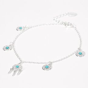 Silver Dreamcatcher Chain Anklet,