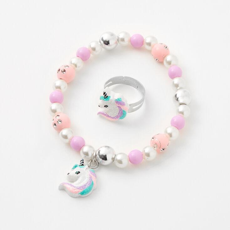 Claire's Club Lilac Unicorn Jewelry Set - 3 Pack,