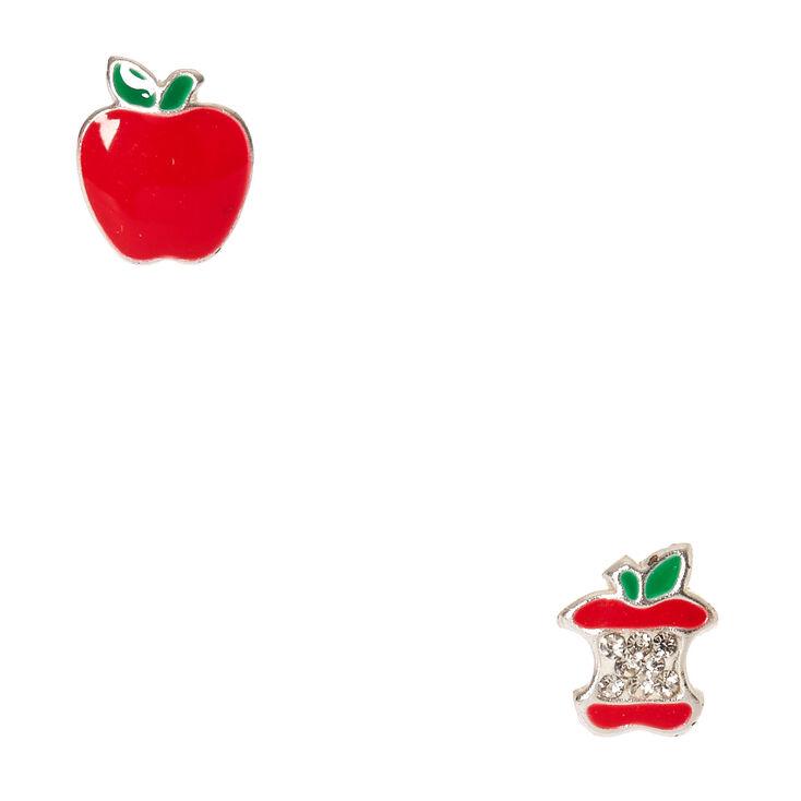 Sterling Silver Poison Apple Earrings,