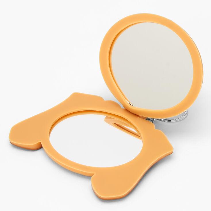 Puppy Compact Mirror Keychain - Brown,