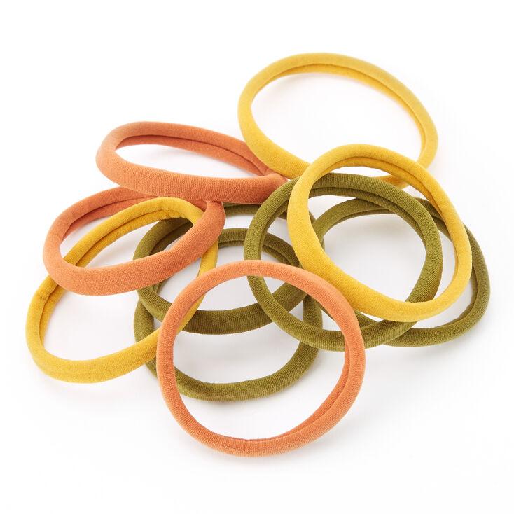 Earth Tone Rolled Hair Ties - 10 Pack,