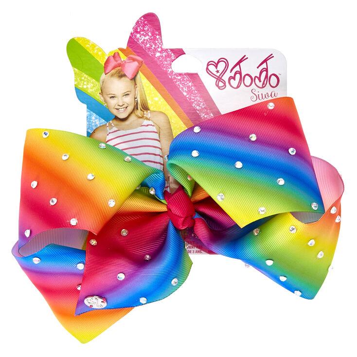 Jojo Siwa Large Rhinestone Rainbow Signature Hair Bow
