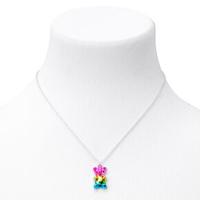 Rainbow Gummy Bear Pendant Necklace,