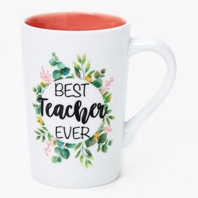 Best Teacher Ceramic Mug - White,