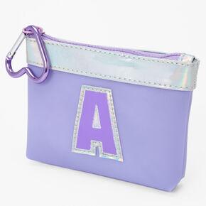 Initial Coin Purse - Purple, A,