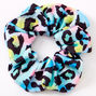 Medium Rainbow Leopard Hair Scrunchie,