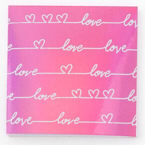 Love Lines Sticky Notepad,