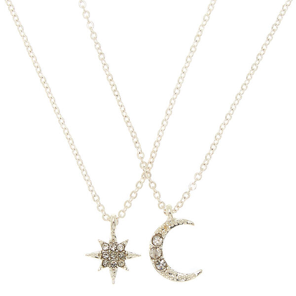Claire's - celestial pendant necklaces - 1