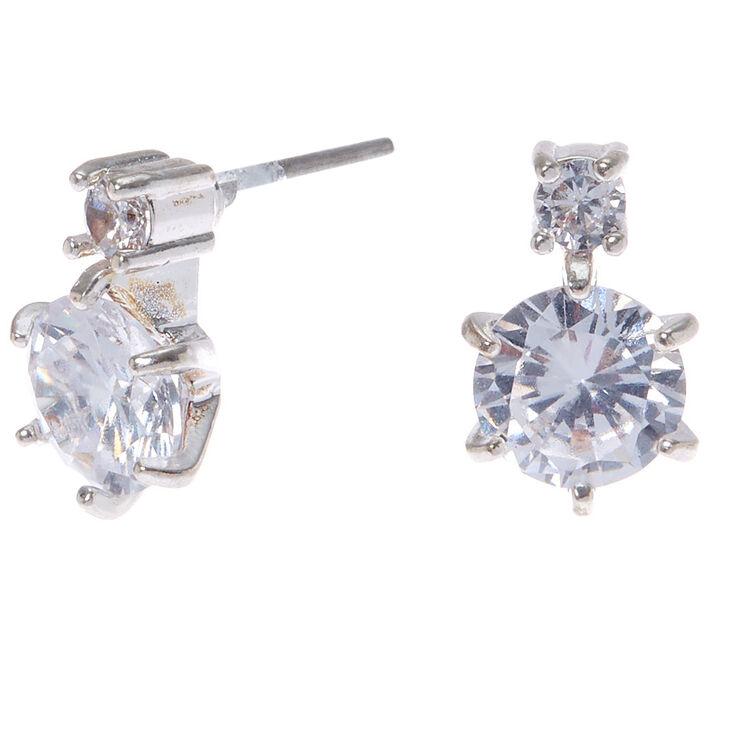 Double Cubic Zirconia Stud Earrings